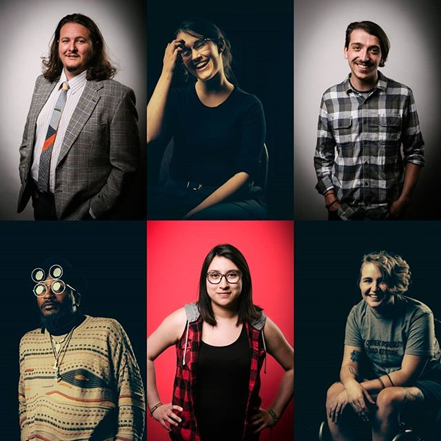 #tbt to some of the fantastic headshots of our past ensemble members taken by @mattbradenphoto! Less than 2 weeks until we do it all again at #spaf2019! • • • [ID: A grid of 6 headshots of poets - Jon Hedderwick in a suit with his hands in his pockets, Catherine Garrett touching her face and laughing, Liam Coady with his regular grin, Kaz Mega sporting double sunglasses and looking inscrutable, Sandi Martinez with hands on her hips, and Q in their chair leaning forward. End of ID.] • • • #yxe #ensemble #sk #Treaty6Territory #canadianpoets #mattbradenphoto #headshots #smiles