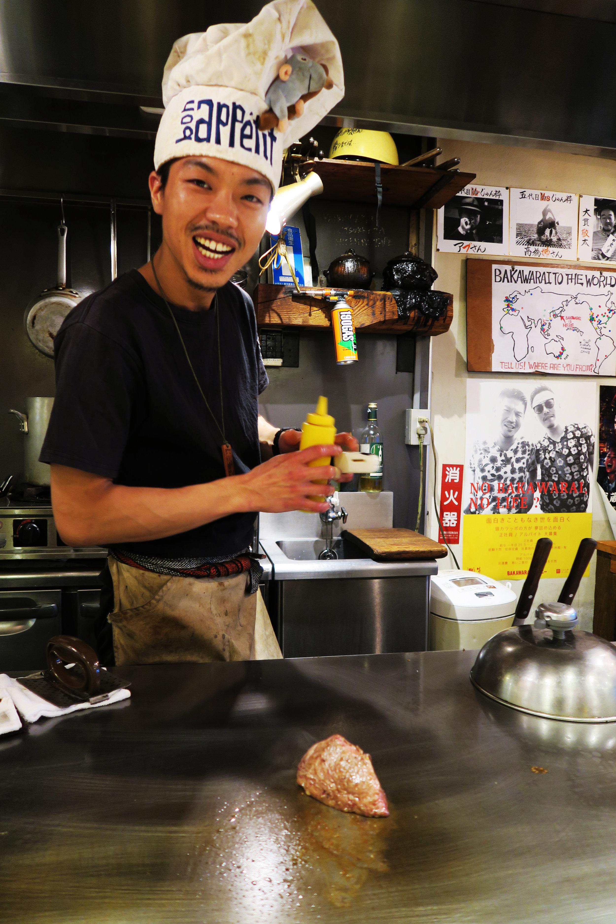 Chef at Bakawarai Kichijoji Izakaya