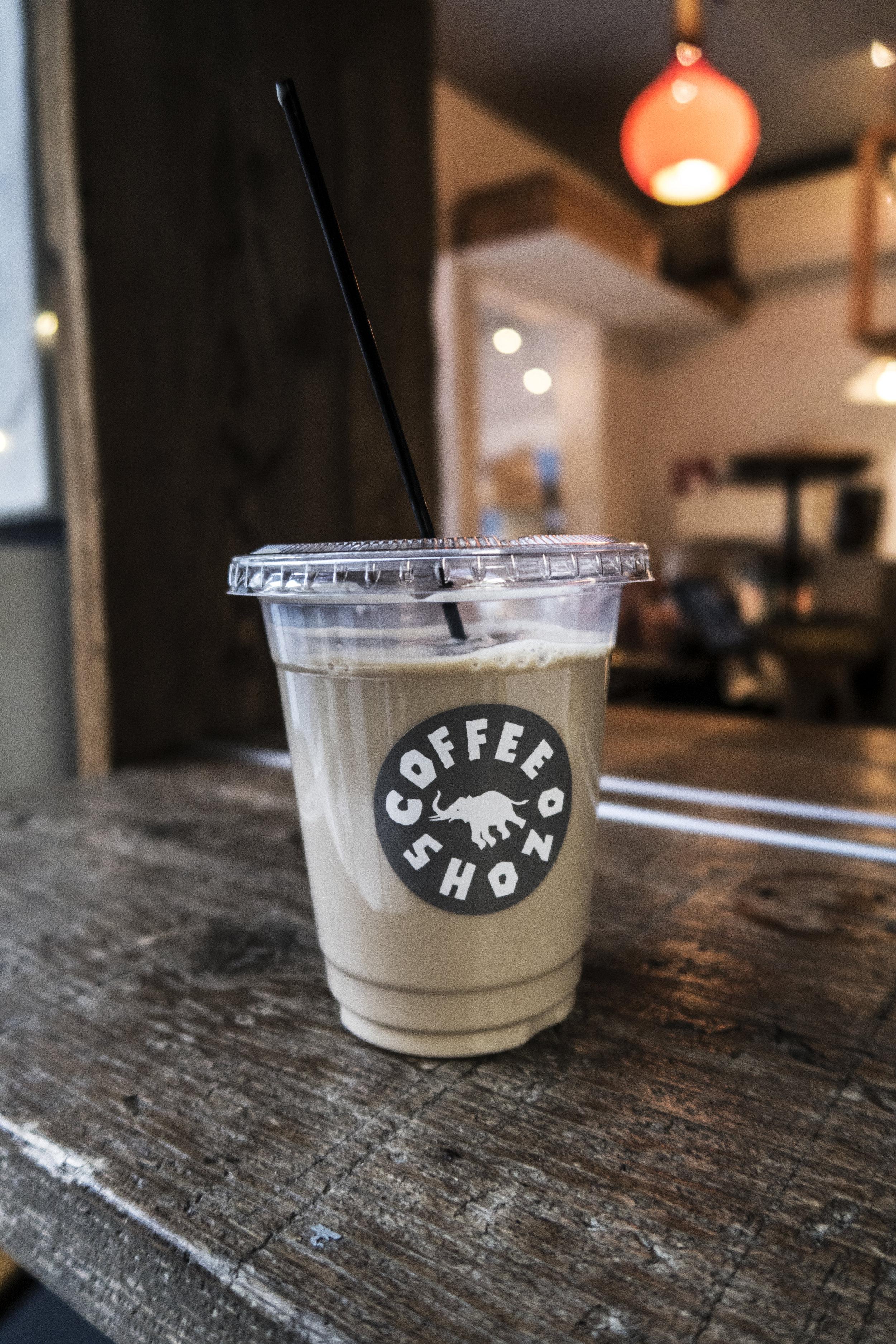 Shozo coffee house Harajuku iced latte