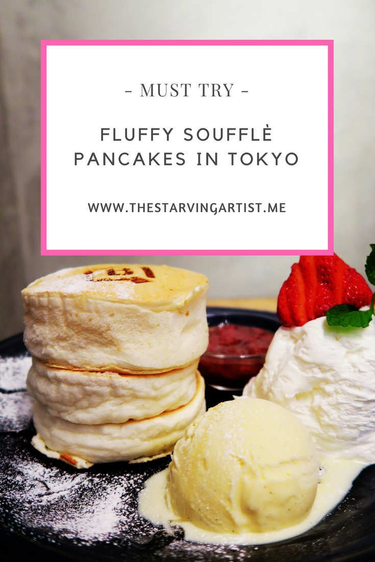 When traveling to Tokyo you must try these famous Soufflé  pancakes.