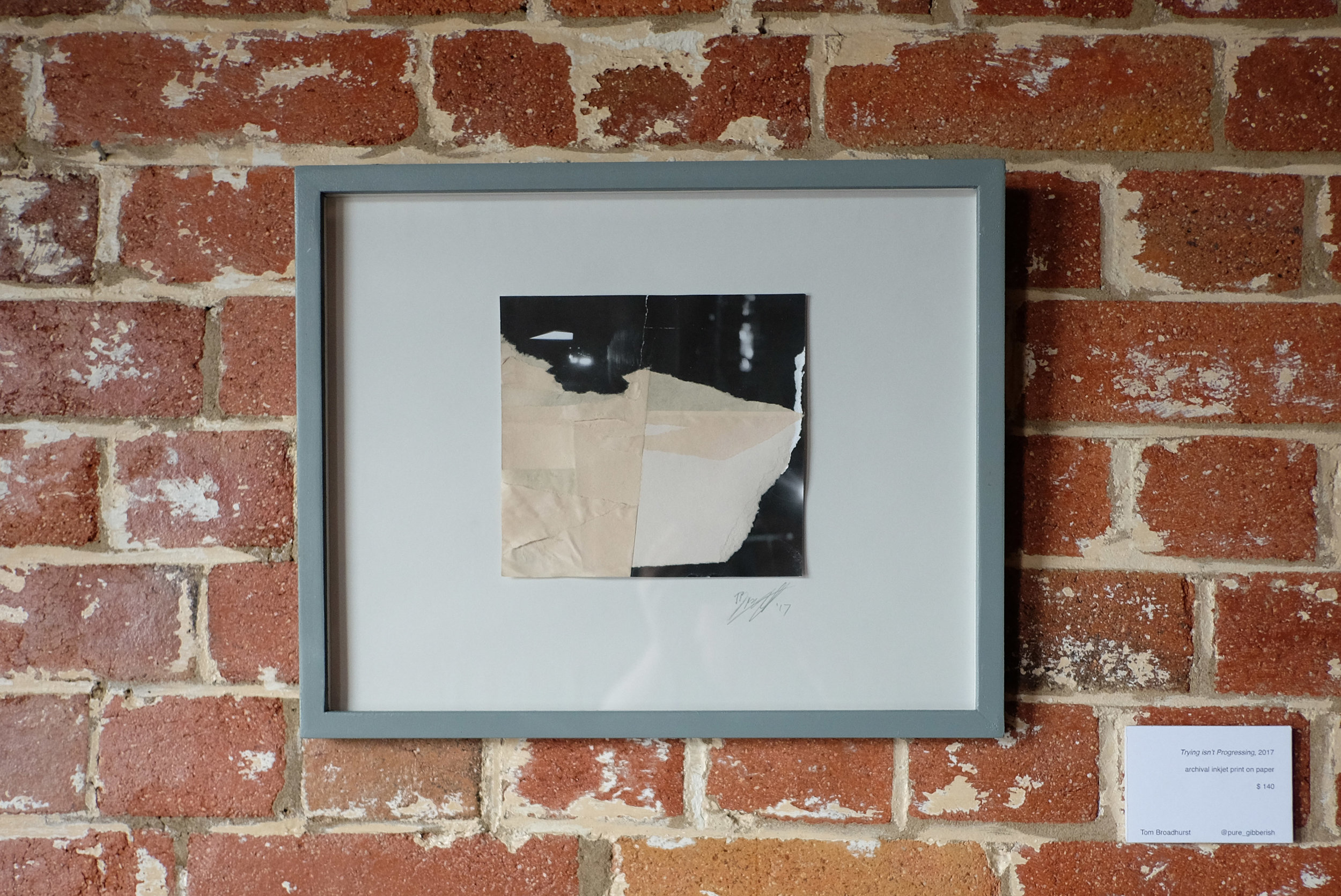 Mixed media by Tom Broadhurst at Reverends in Brisbane