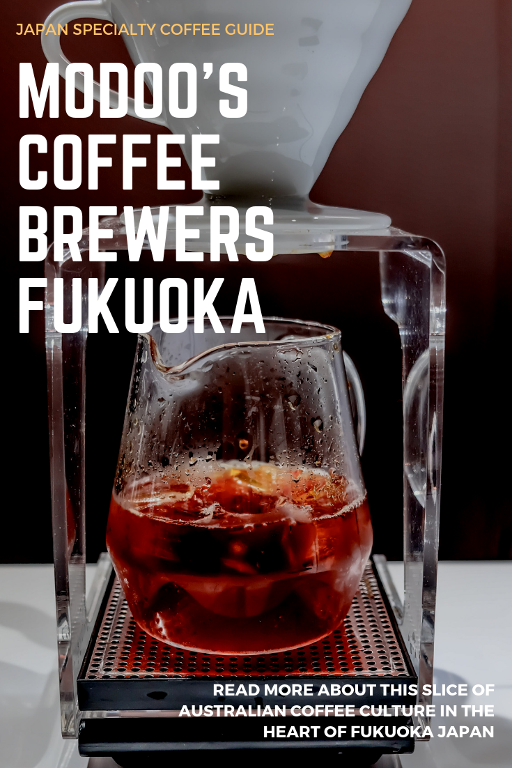 Japan specialty coffee guide. I show you a slice of Australian coffee culture in the port city of Fukuoka. Modoo's Coffee Brewers if the place to get a delicious magic or a tasty kalita pour over. One of the best cafes in Fukuoka Japan.