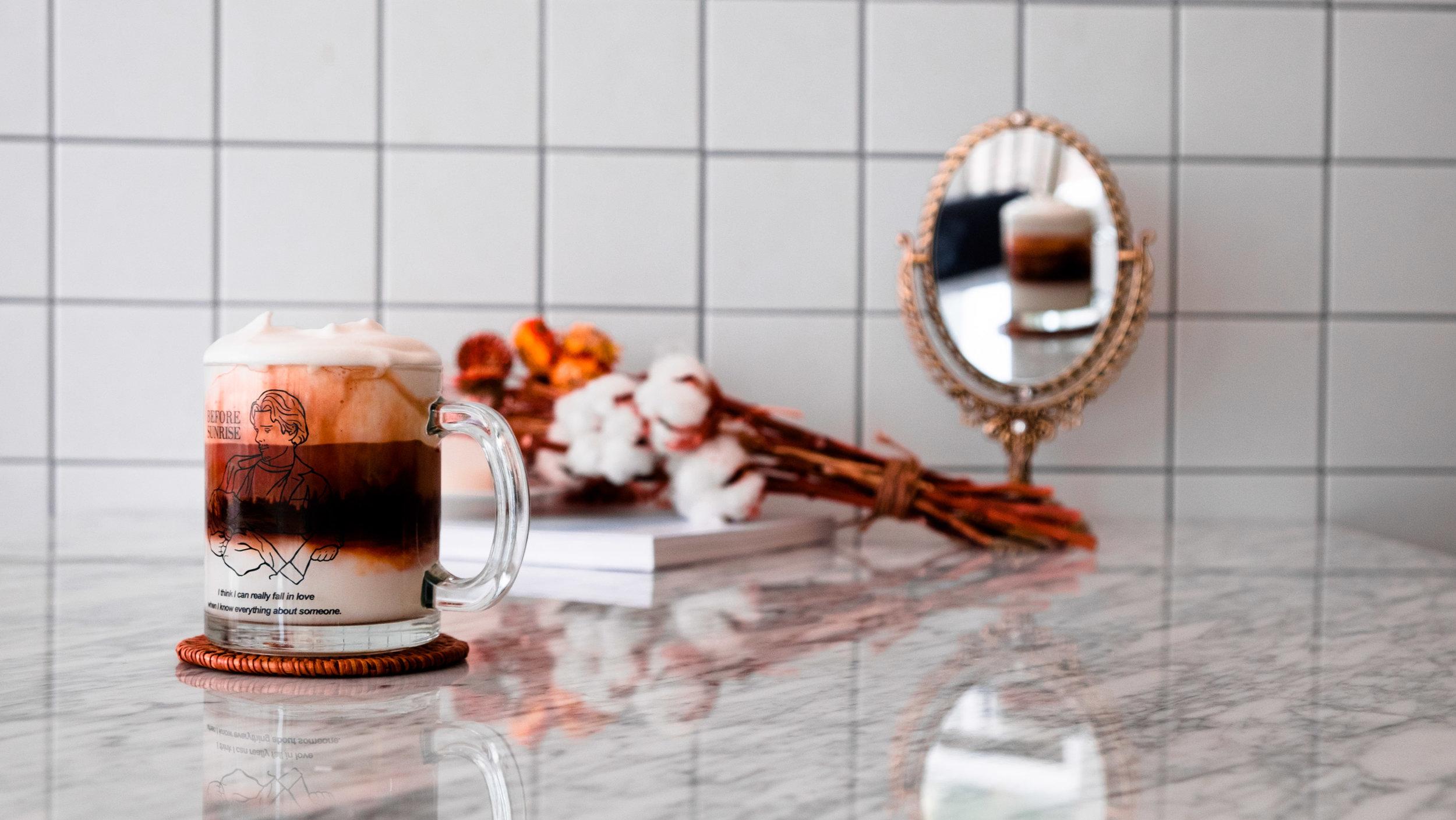 fluffy espresso drink 2017 cafe mokpo