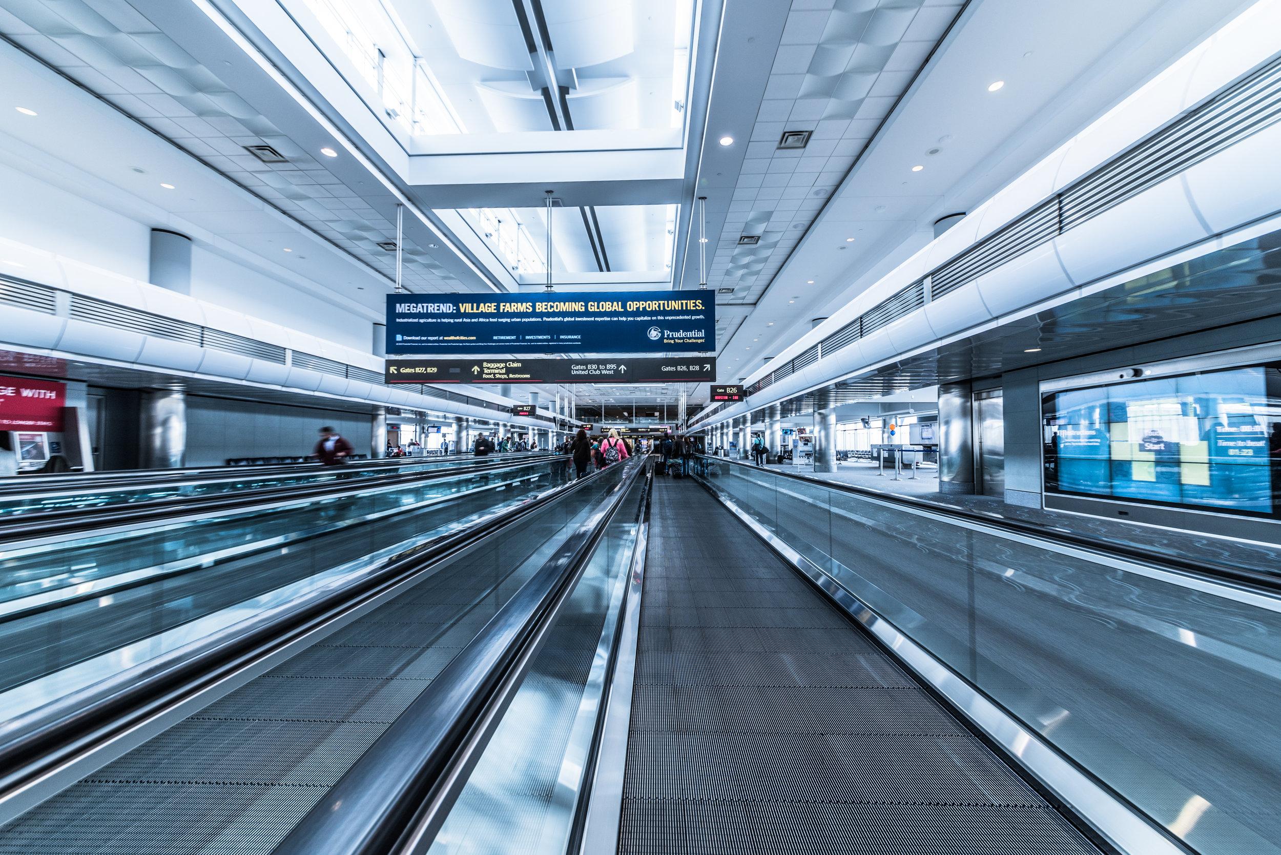 airport travelator