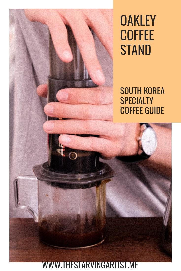 Korea specialty coffee guide. Oakley coffee stand. Things to do in Seongsu Seoul South Korea
