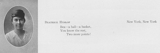 Beatrice Hyslop (1919)   Mount Holyoke College Special Collections