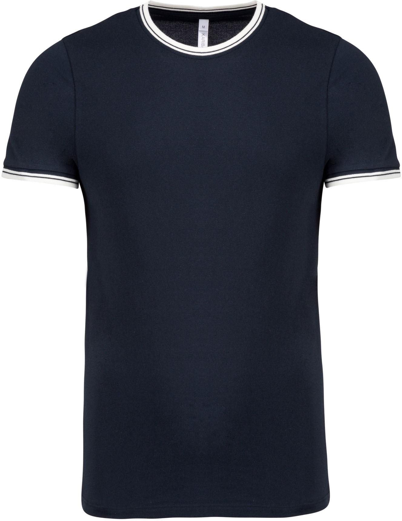 T-shirt de homem em malha piqué com decote redondo