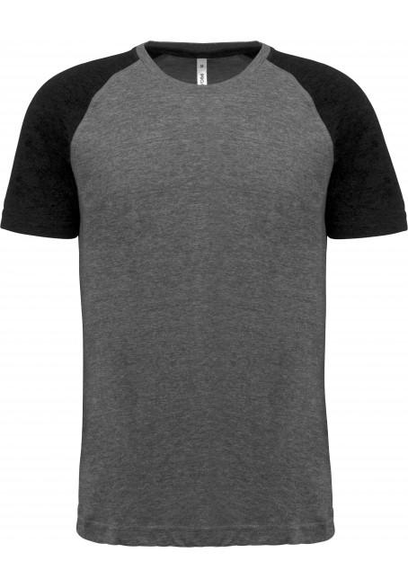 T-shirt Triblend bicolor de adulto