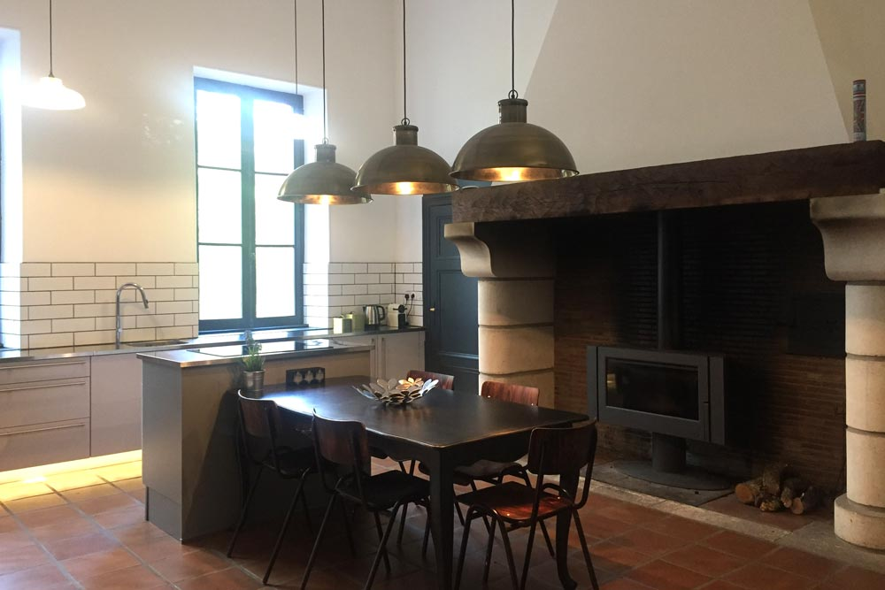 Chateau JAC has a stunning kitchen for guests