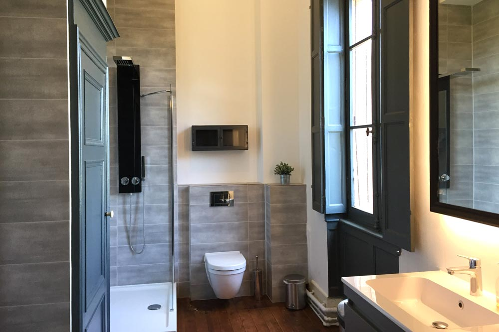 Chateau rental with gorgeous designer bathrooms