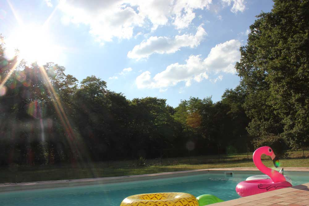 Chateau holidays in France with swimming pool