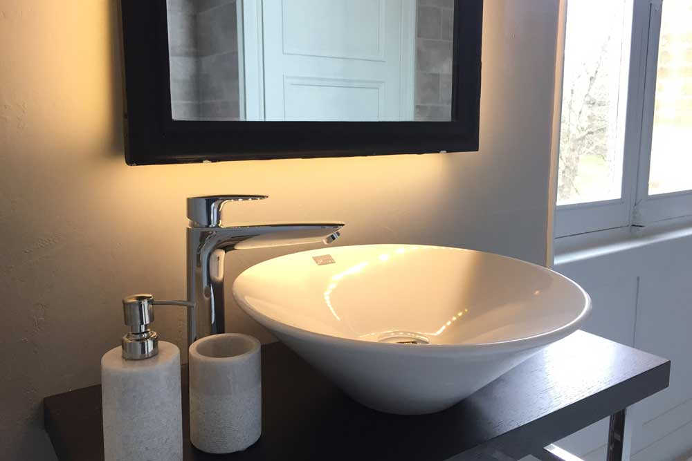 Luxury Chateau with designer basin