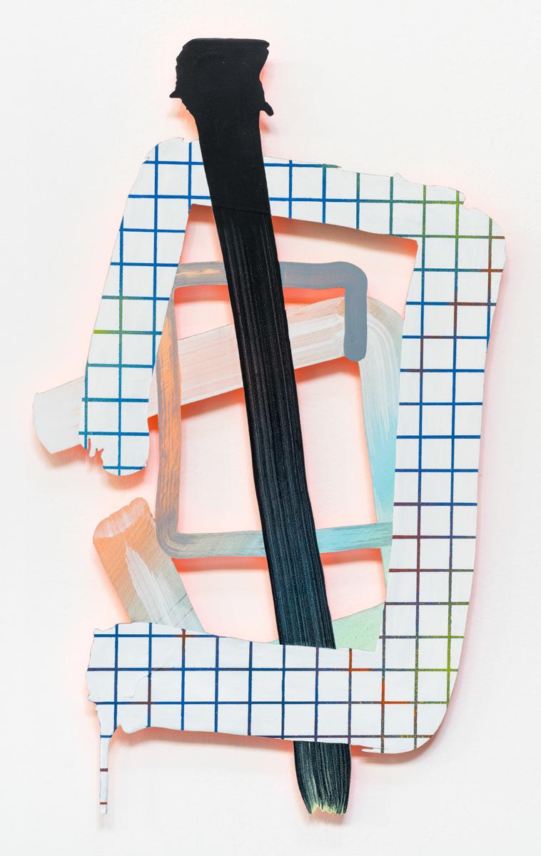 Lucid Relief, 60 x 40 cm, acrylic on aluminium, 2016