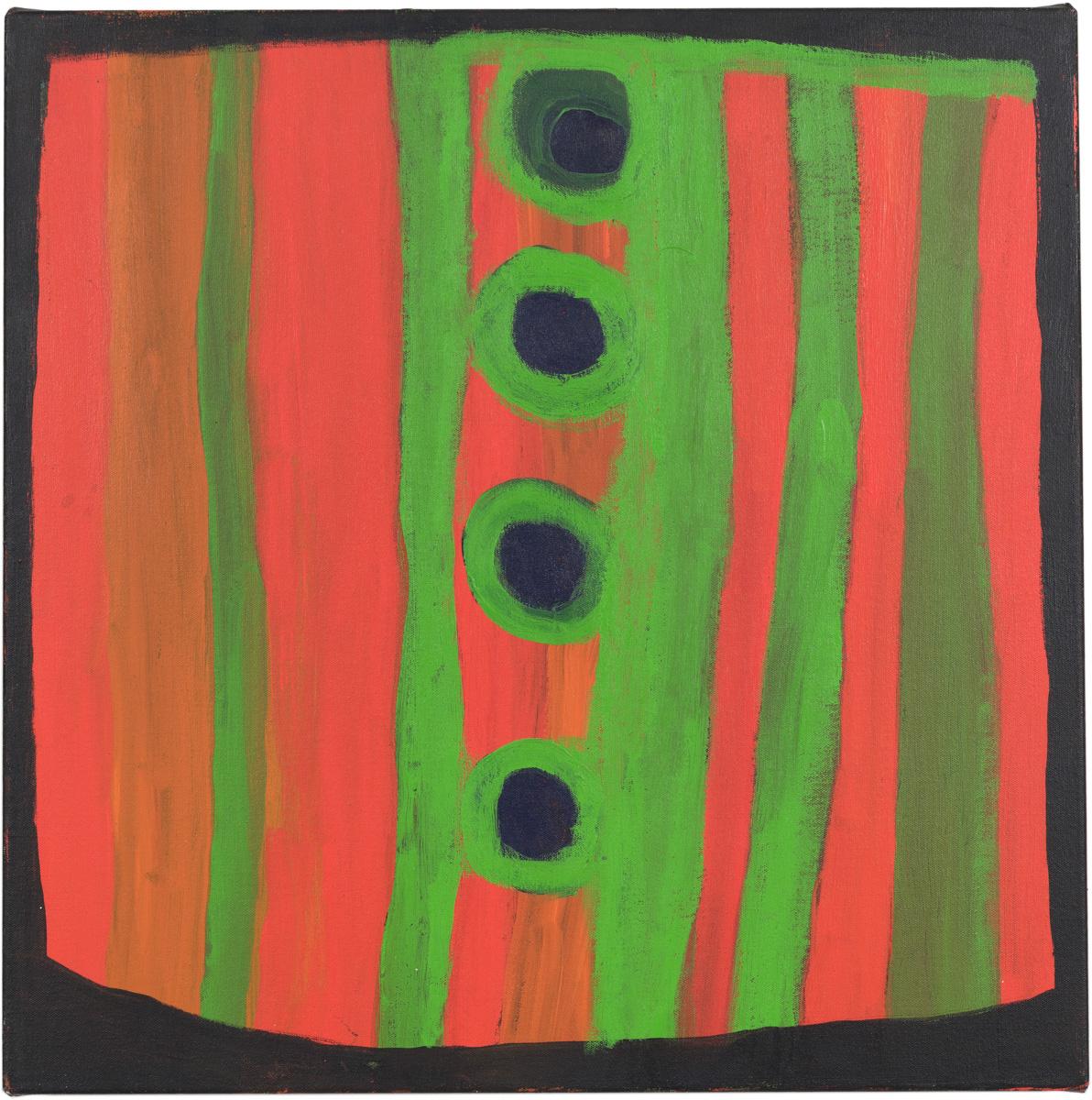 Dolly Snell, Paparta Jila, acrylic on canvas, 60 x 60 cm