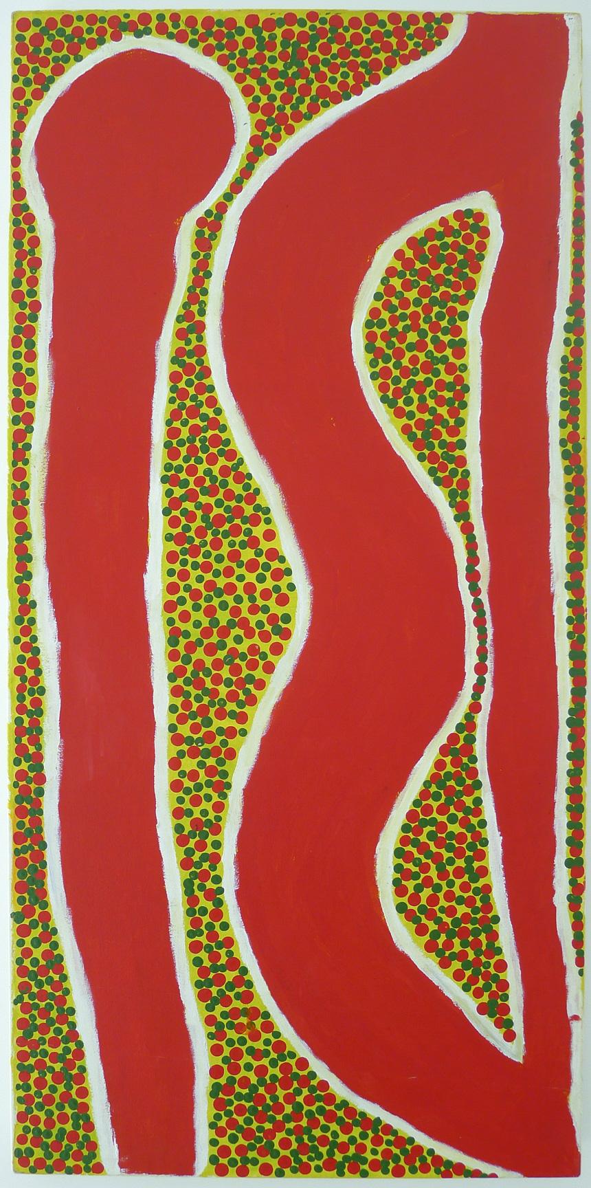 Spider Snell, Karruwilgi, acrylic on canvas, 120 x 60 cm