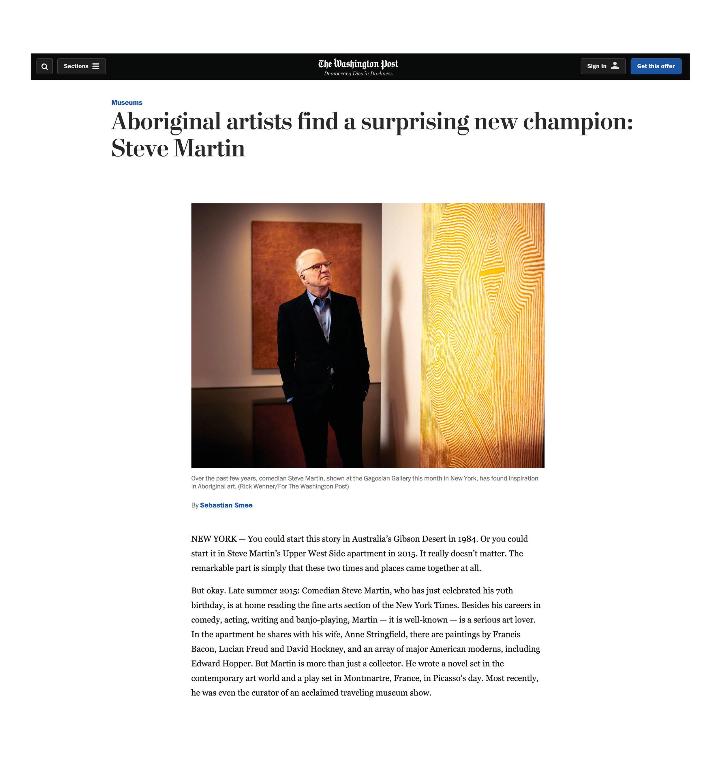 Washington Post_Aboriginal Art Steve Martin_May2019.jpg