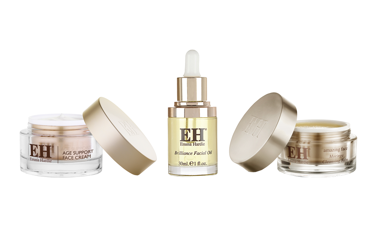 AMAZING FACE AGE SUPPORT TREATMENT CREAM ,  BRILLIANCE FACIAL OIL ,  AMAZING FACE MORINGA CLEANSING BALM , ВСЕ – EMMA HARDIE.
