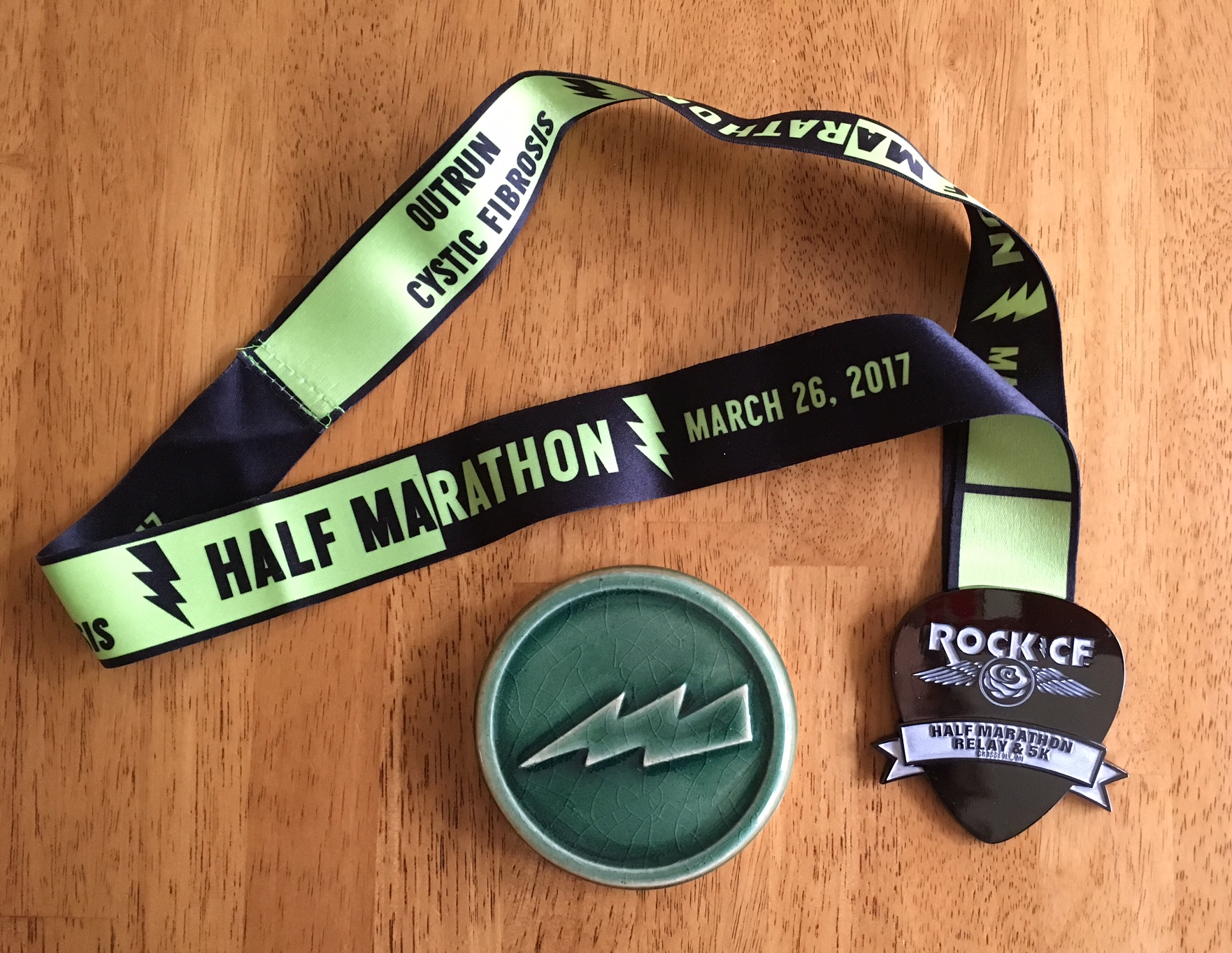 Finisher's medal and AG award