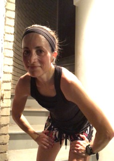 Somewhat smiling after a 5K pace workout!