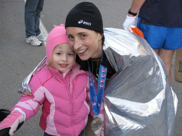 First Marathon and BQ in 2008. This photo doesn't accurately depict how awful I felt!