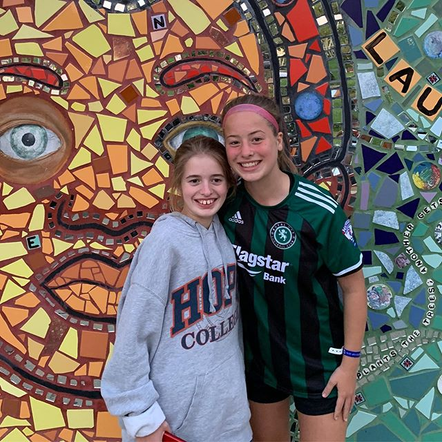 A fun soccer weekend included eating at some great restaurants in downtown Grand Rapids with these two beauties.