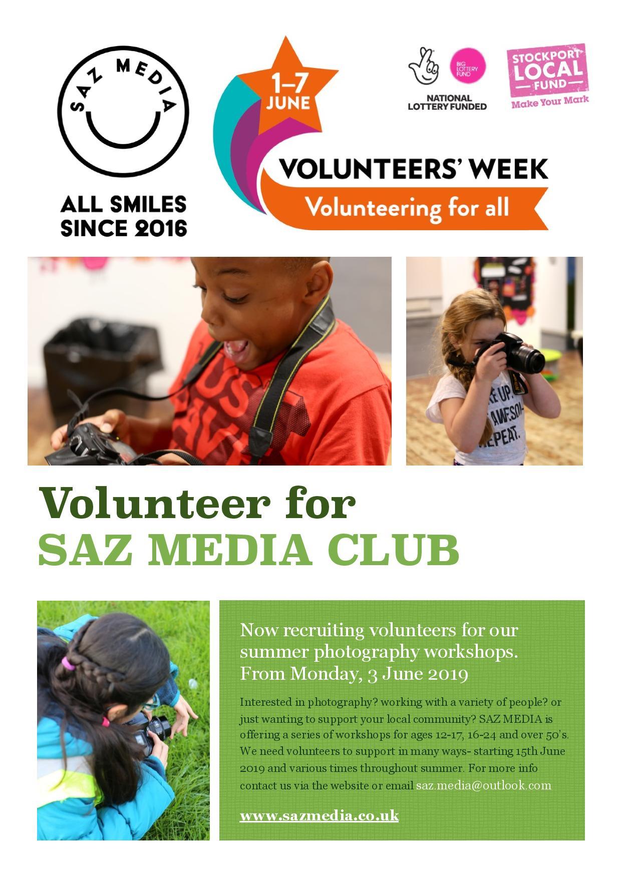 Volunteer at SAZ MEDIA. Volunteer Week 2019