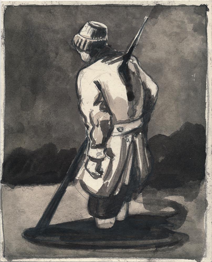 Die Nadel: ink/paper, ca. 35 x 23 cm, 2014