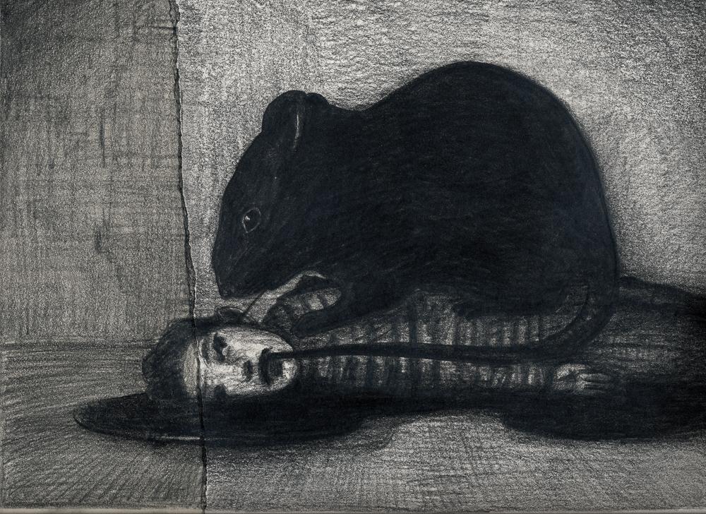 Der Traum: graphite/paper, 23 x 30 cm, 2014