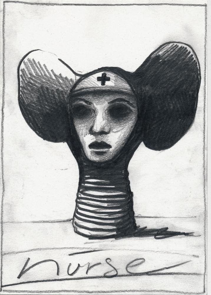 the nurse: graphite/paper, 2014