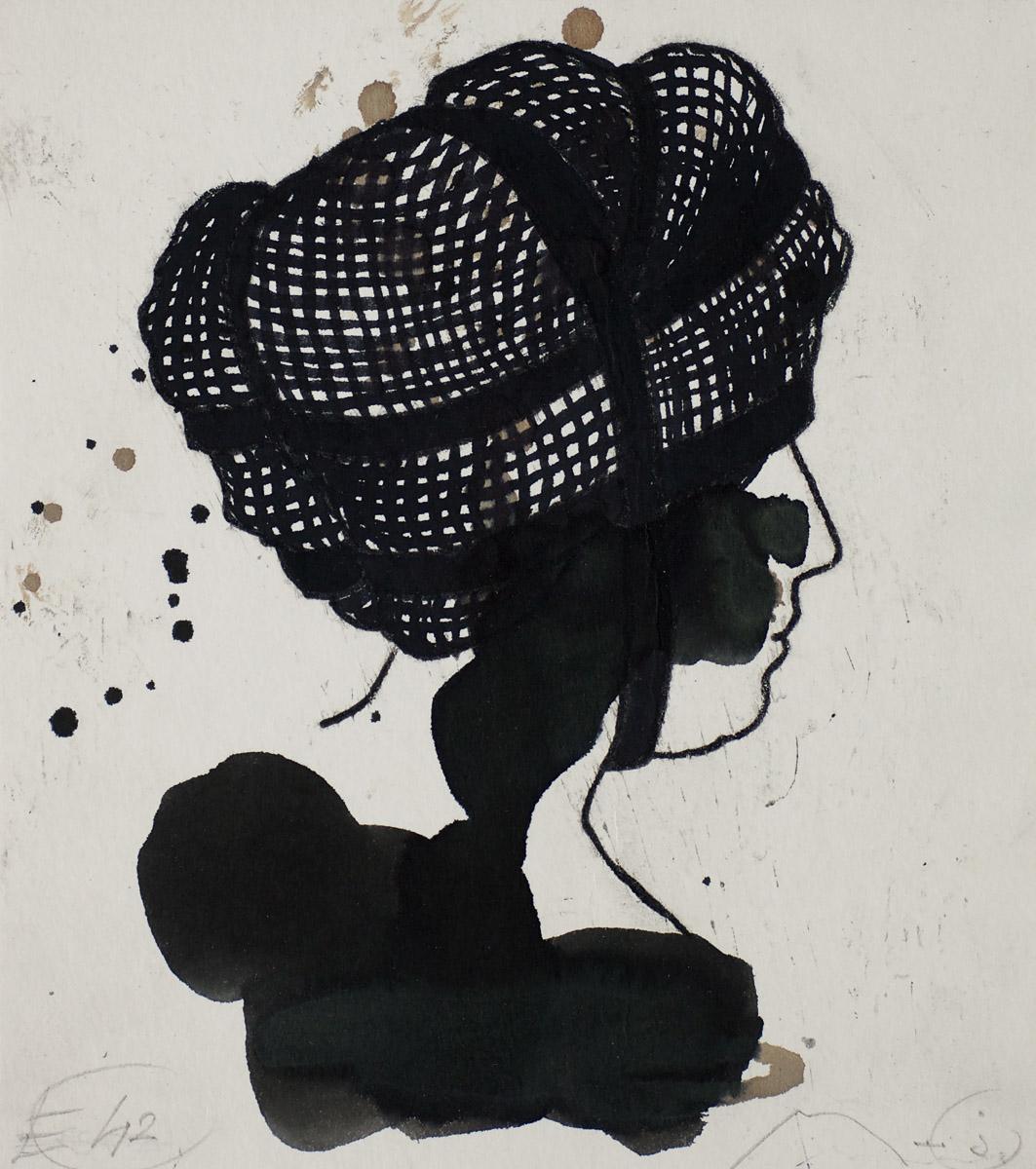 Frisur: ink/paper, 30x 25 cm, 2006