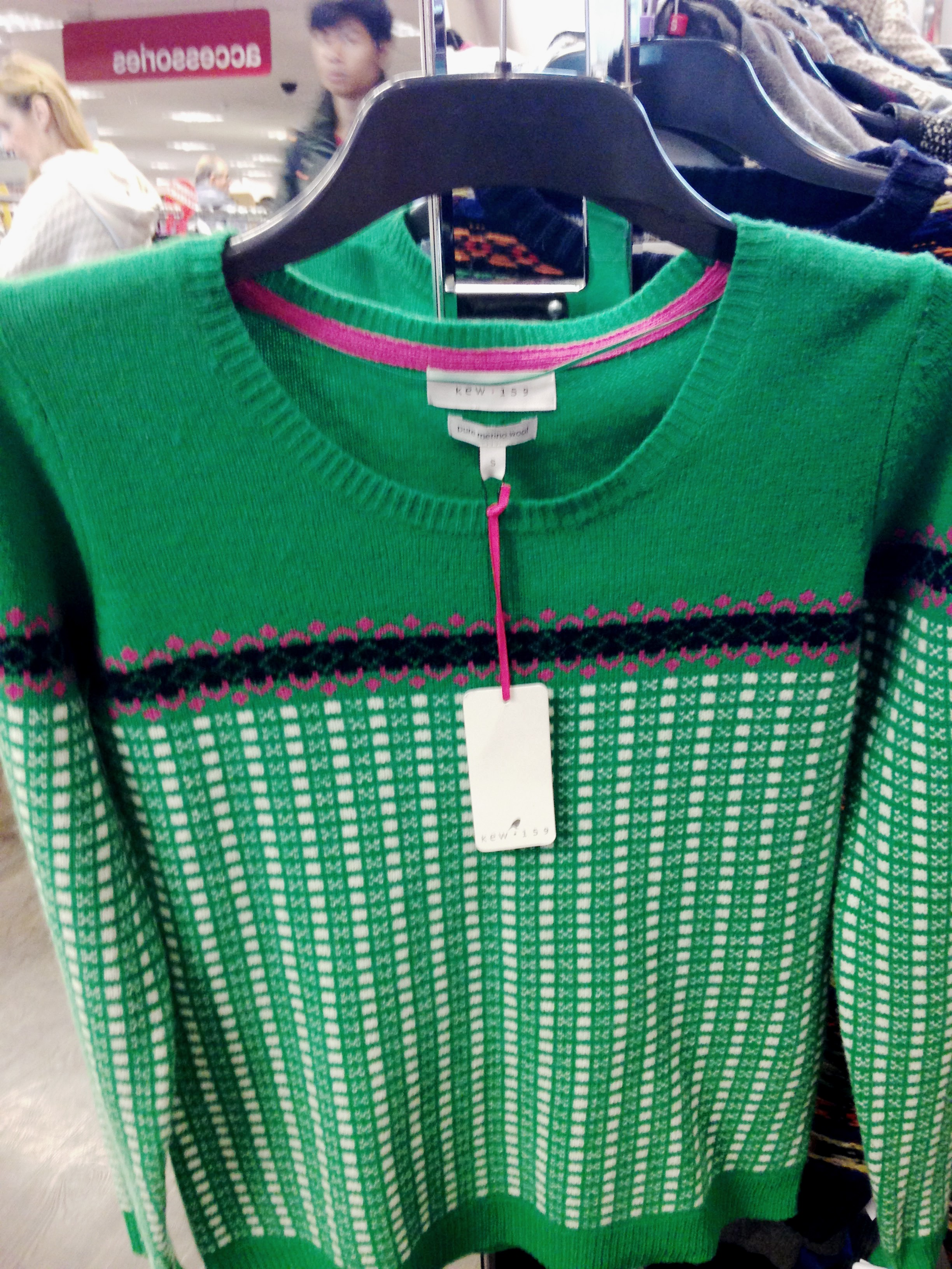 Tk Maxx! Bright green sweater with tradional design by Kew.159. €34.99