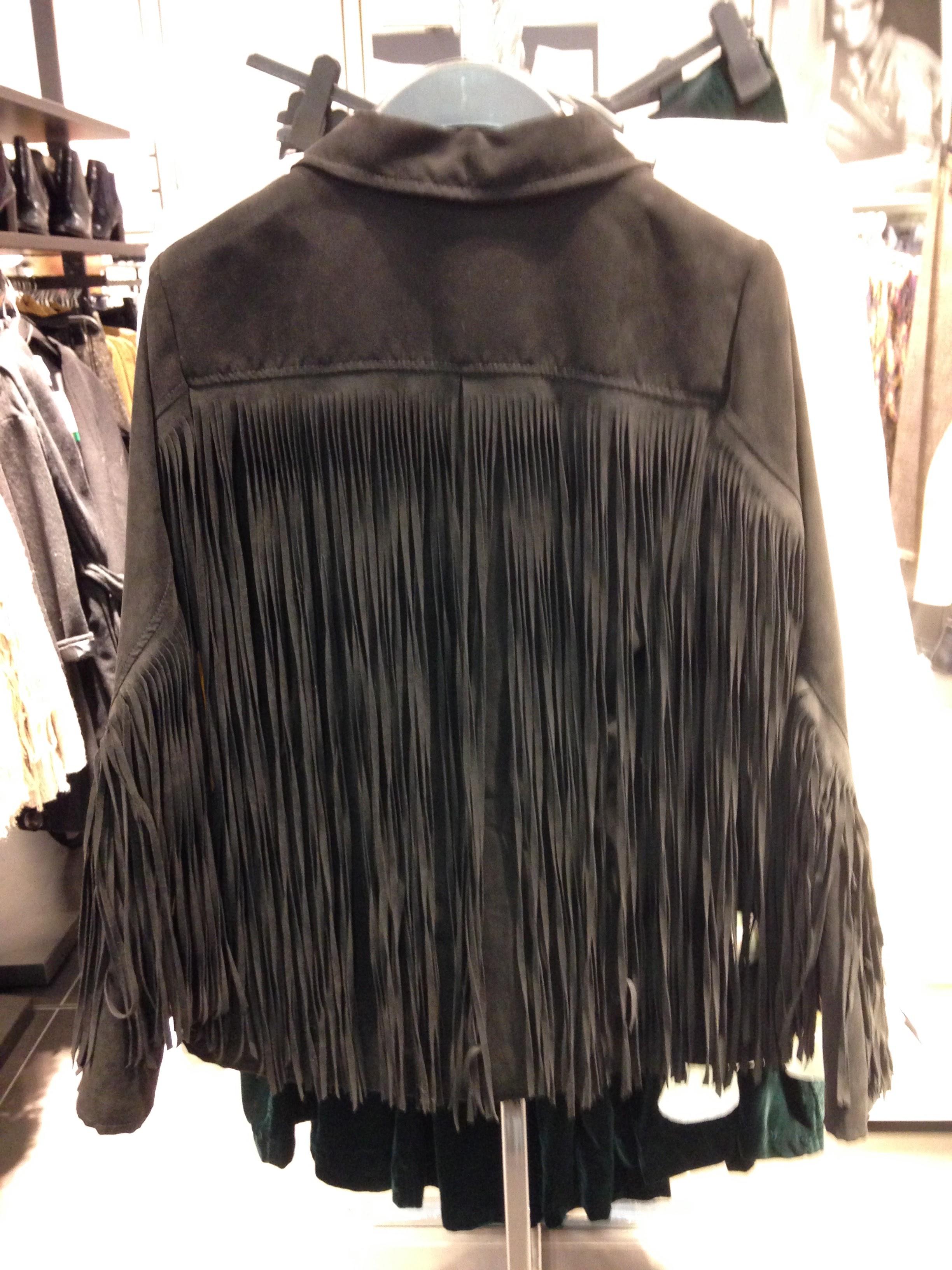 H&M Fringe Black Jkt