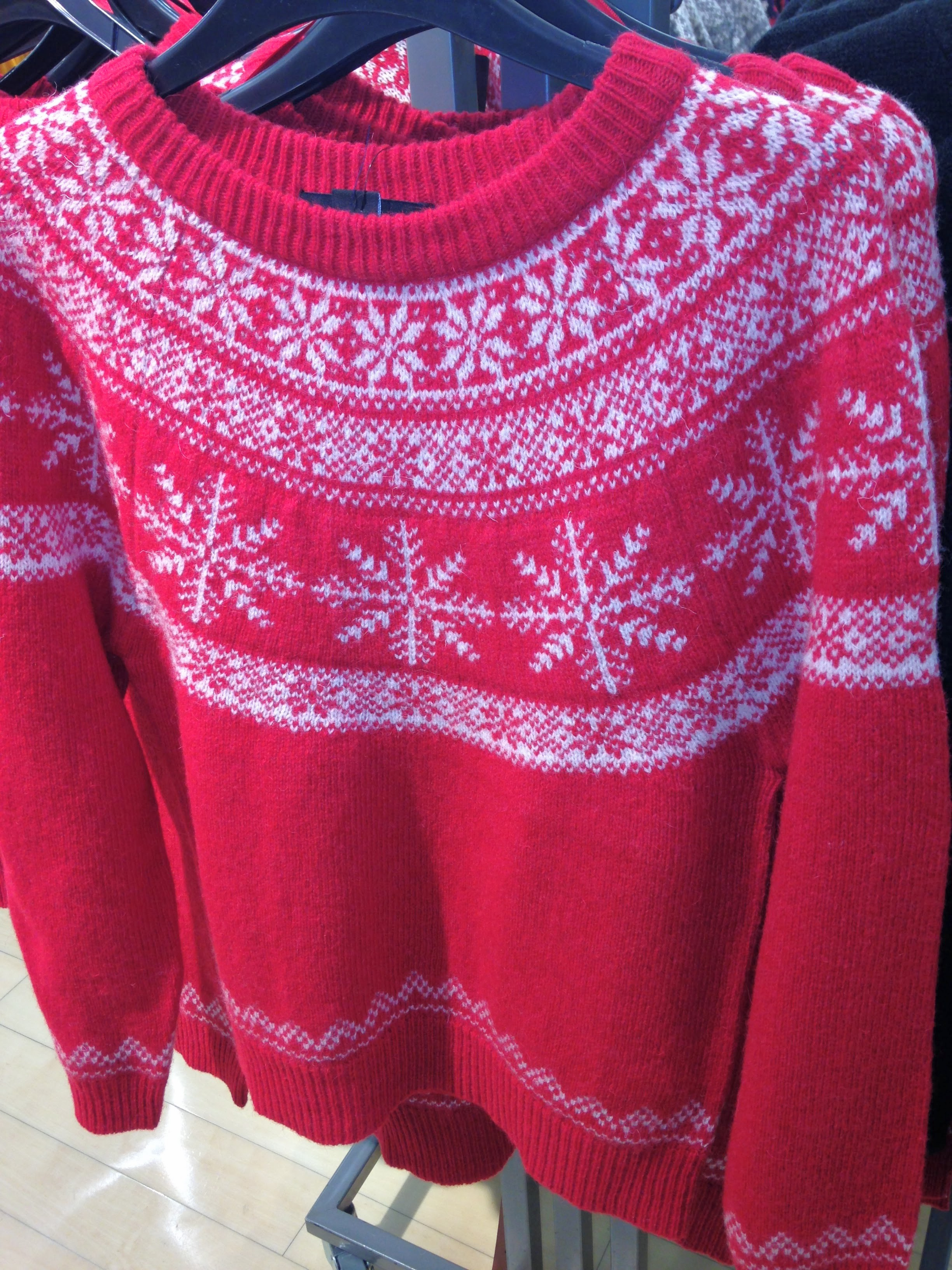 Bright Red winter 100% wool sweater from Penneys. Great value €18