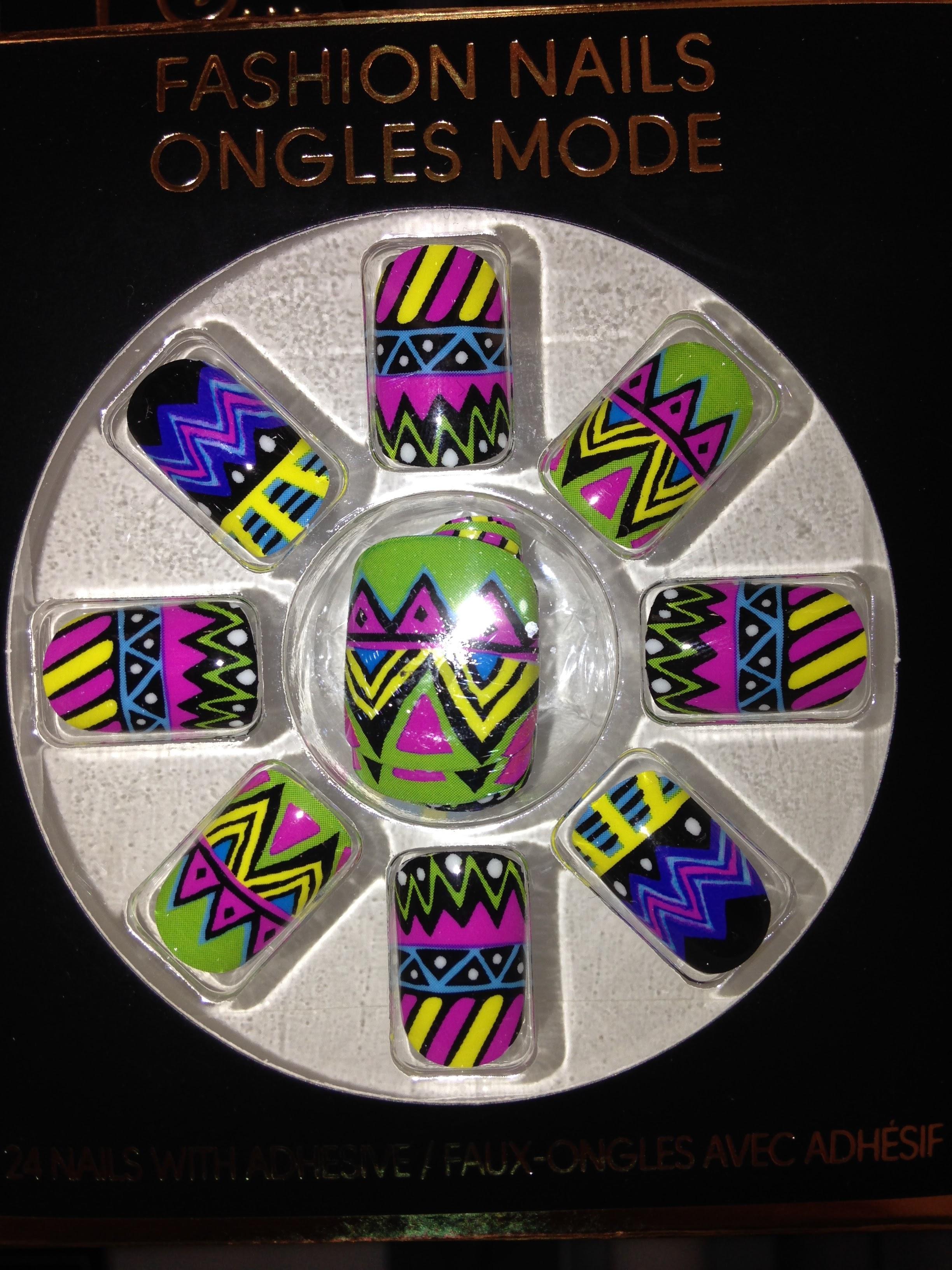 Fab coloured false nails. €1.50 Penneys