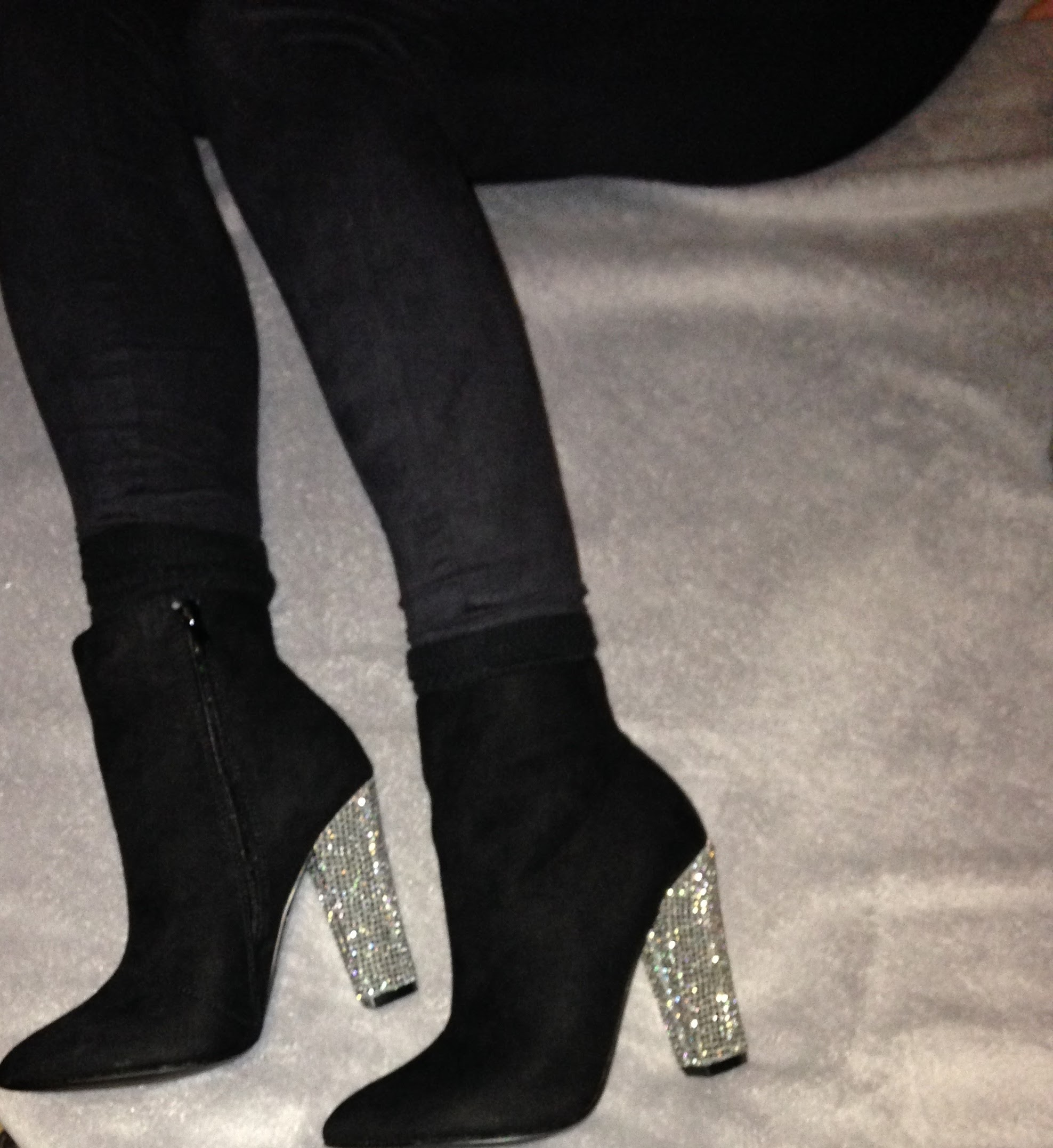 Super glamourous! I love these boots and they will be my