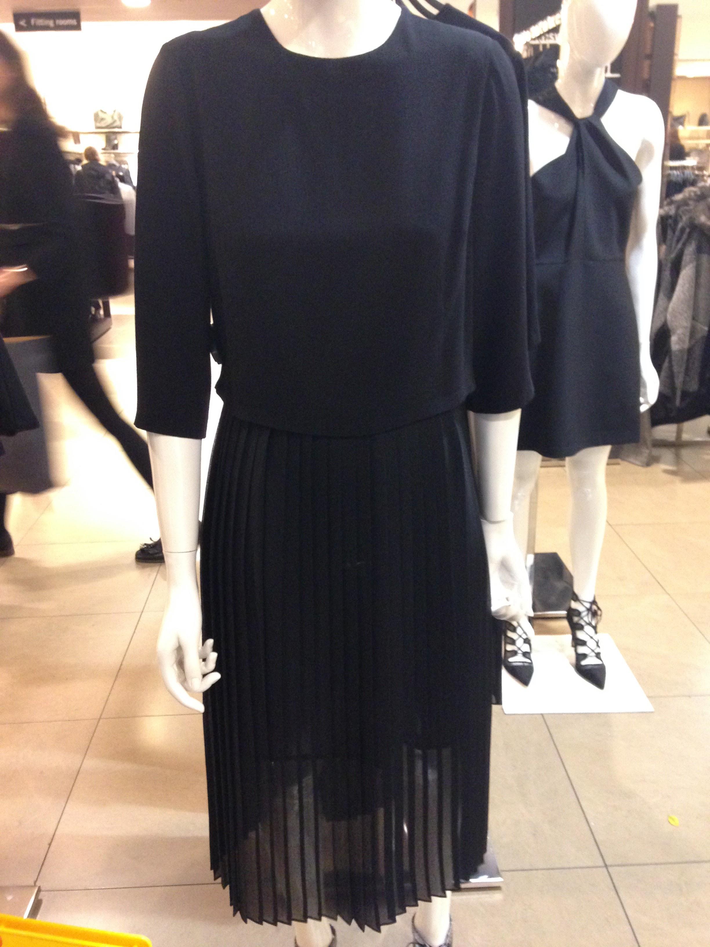Zara! Gorgeous Black midi dress can be worn casually or dressed up. Good value at €49.99
