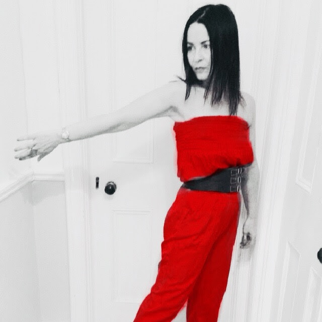 This look a TB from the summer is a silk 80s catsuit perfect for Christmas party wear.