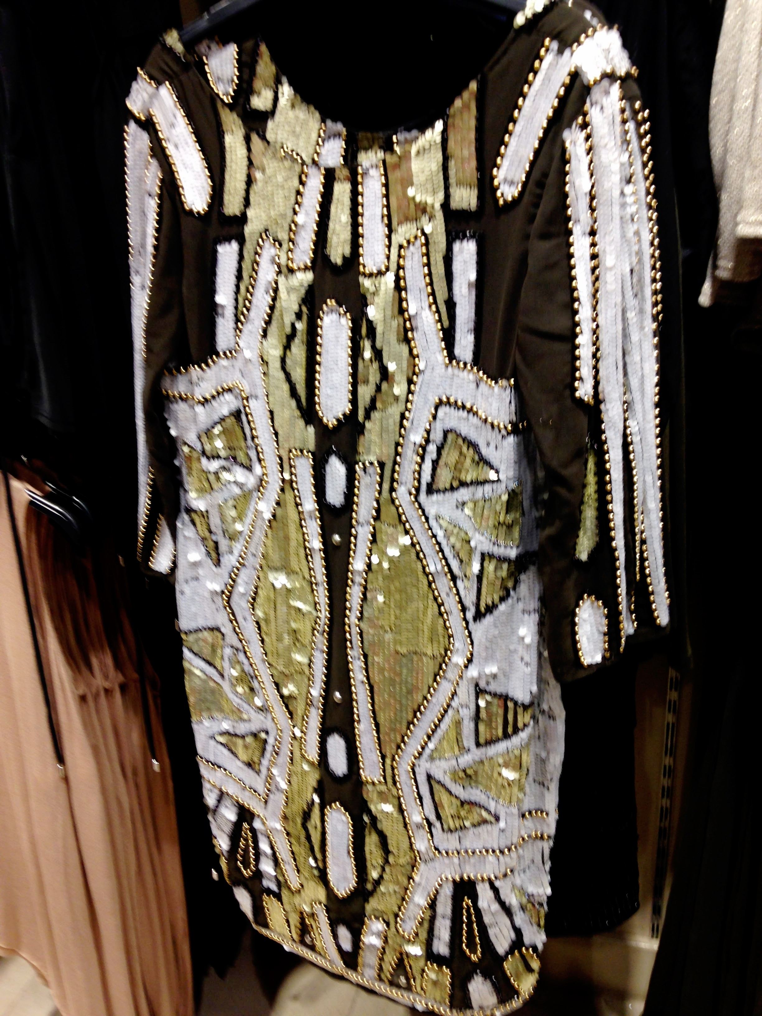 River Island sequinned dress. Lots of detail on this one. Perfect xmas party dress.Around €80.00