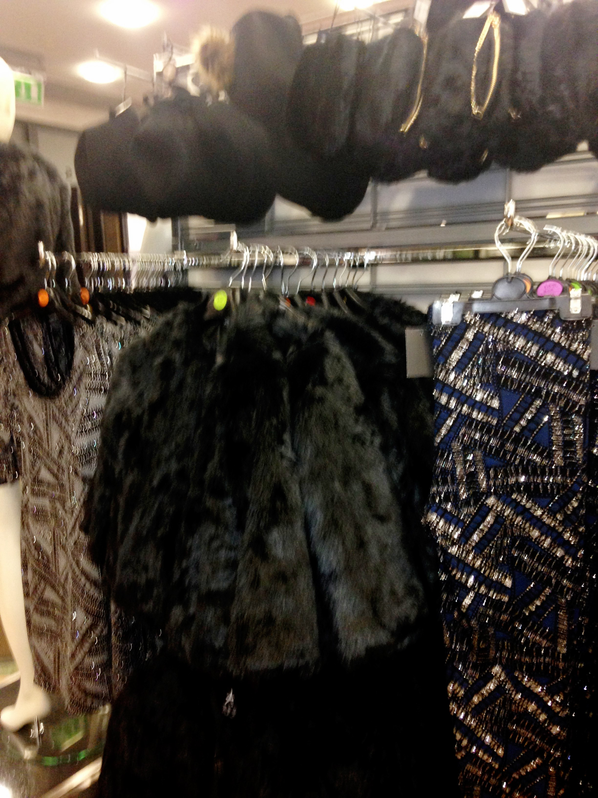 Xmas Collection Newly arrived in Penneys/Primark. Black cop fur jacket €25.00 . Beaded leggings €12.00. AMAZING VALUE