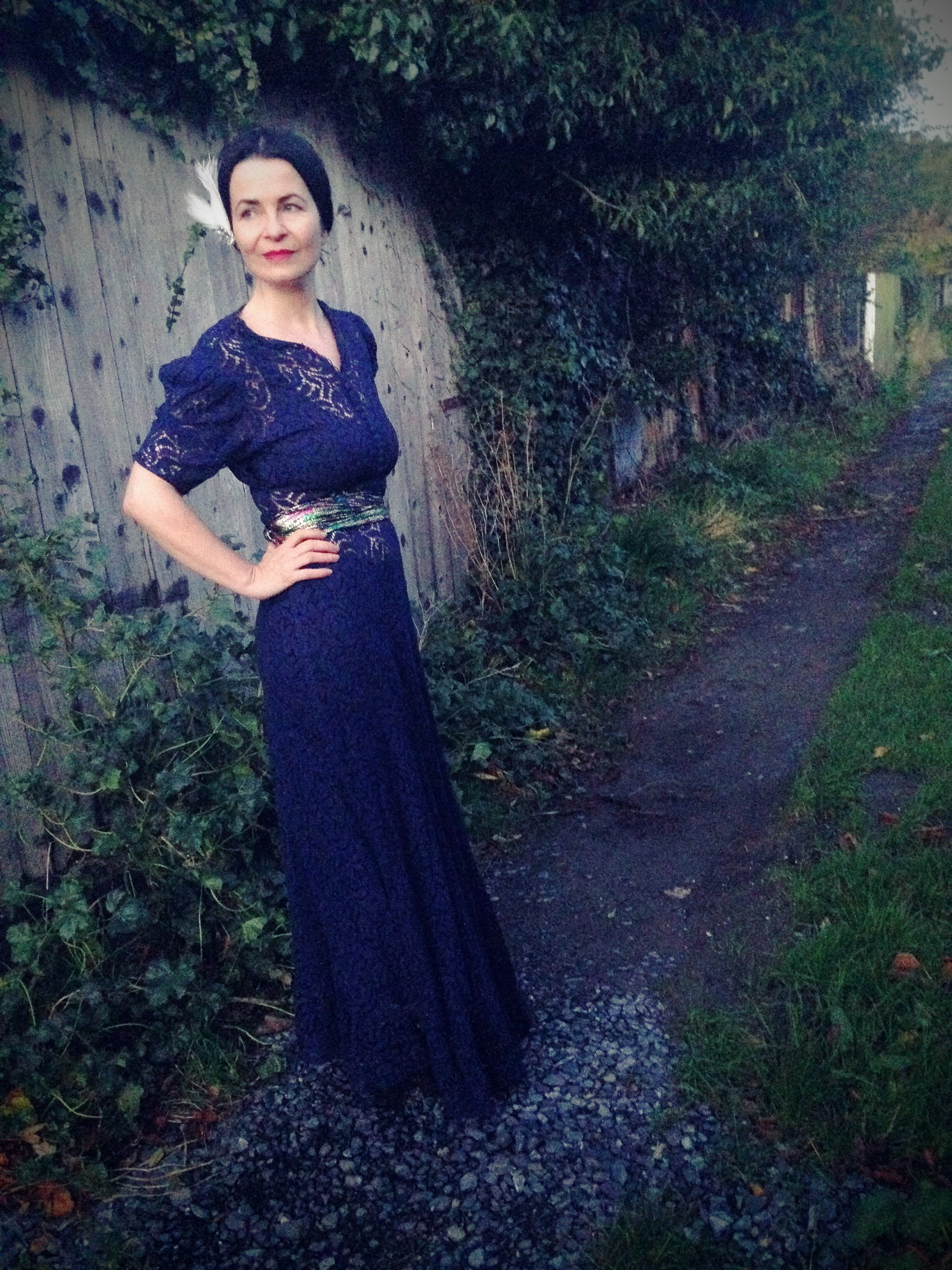 1930s vintage lace dress! Bought in LUCYS LOUNGE Temple Bar Dublin. LOVE!
