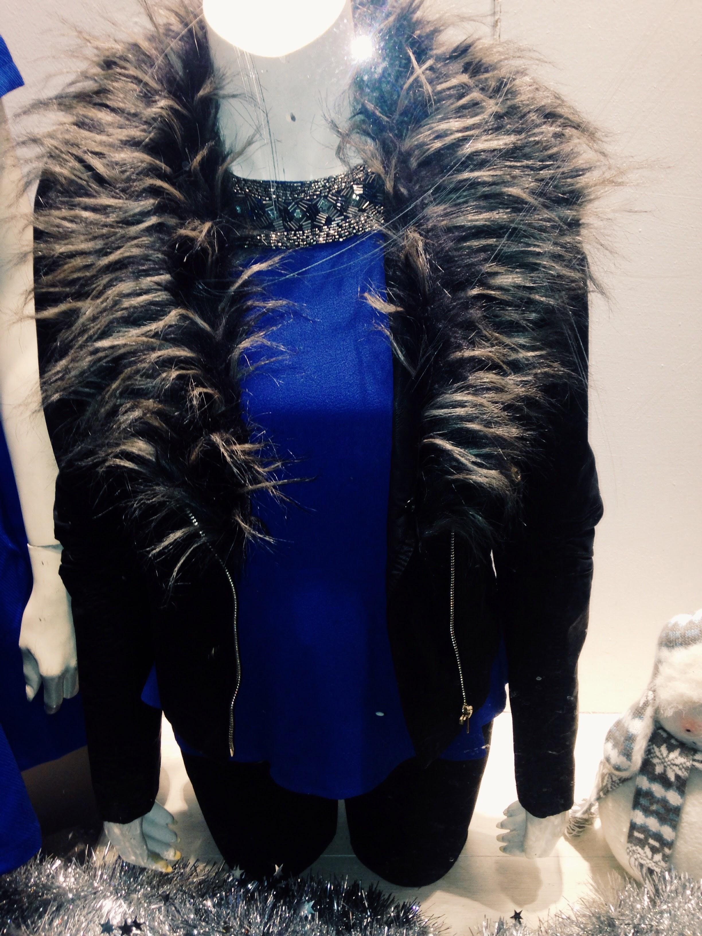 Swamp Dublin! Great Jacket with electric blue body con dress worn underneath. Dress €49.99 Jacket €65.00