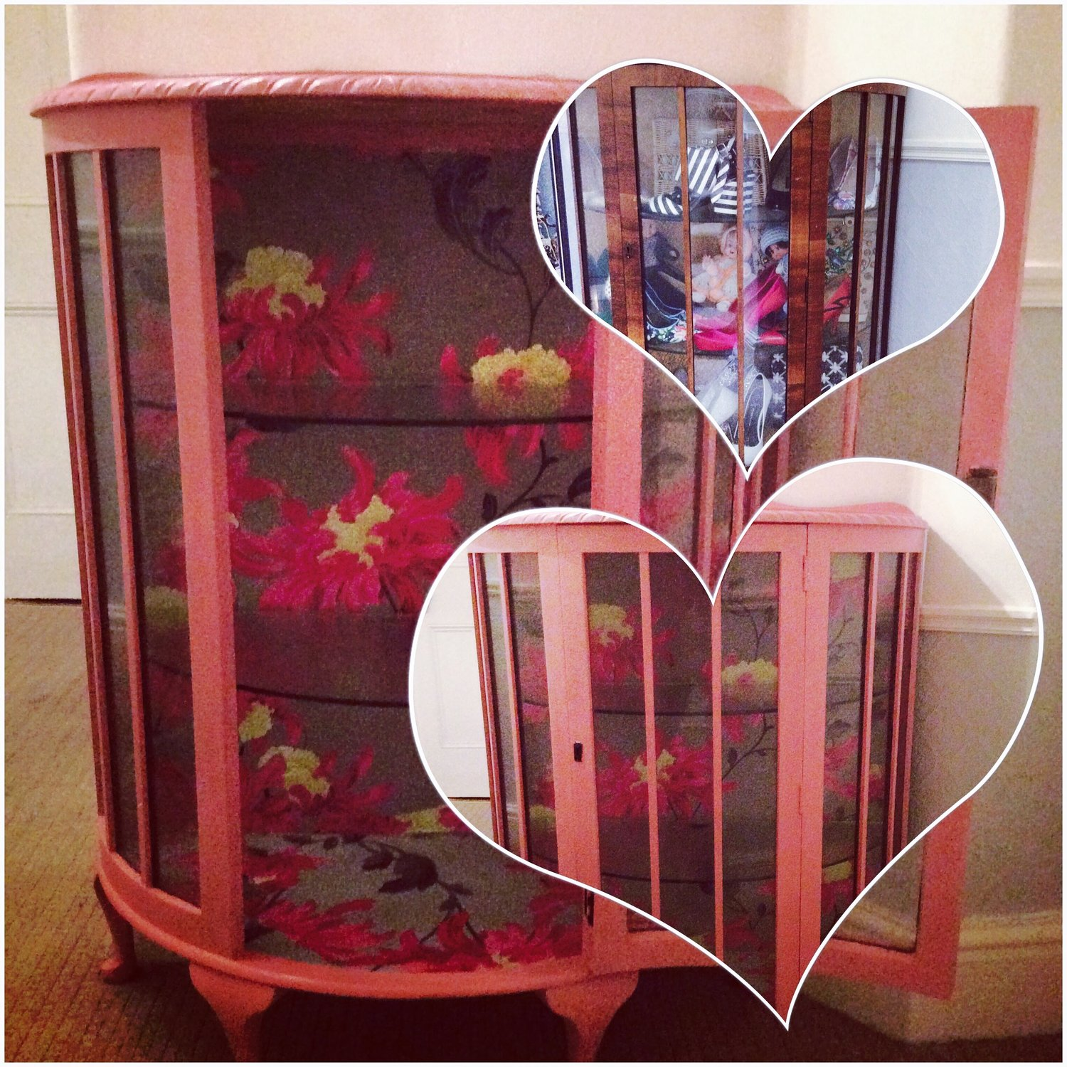 Up-Cycled 1950's display Cabinet. Love this!