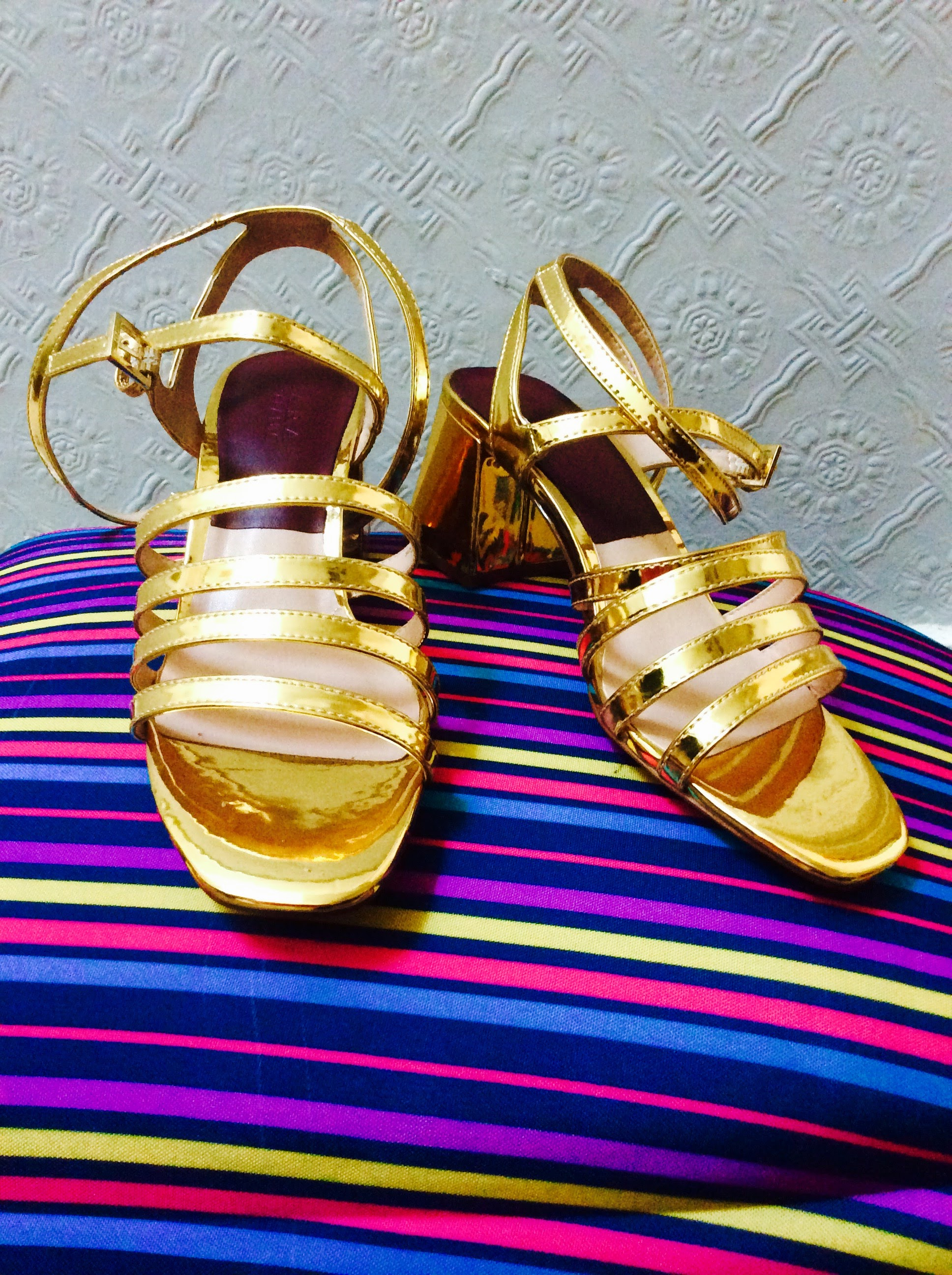 Fab seasonal Gold Sandals bought in Zara Sale!
