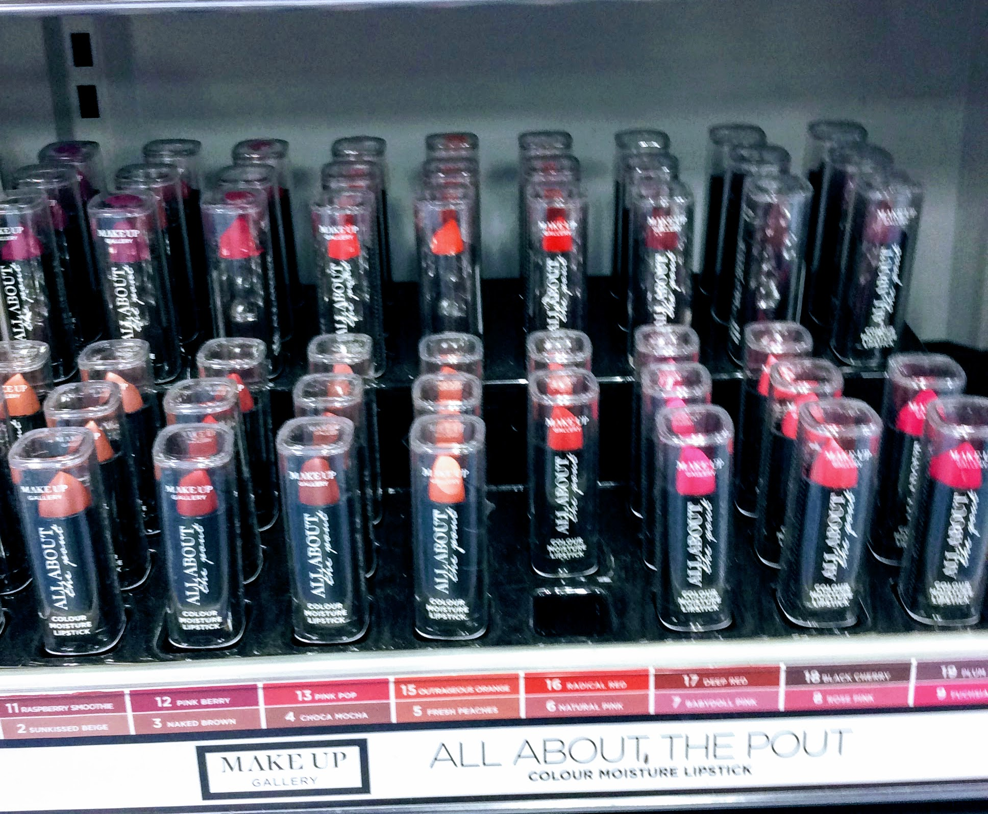 """The dealz cosmetics range """"make-up gallery"""" have a wide range of colours and products"""