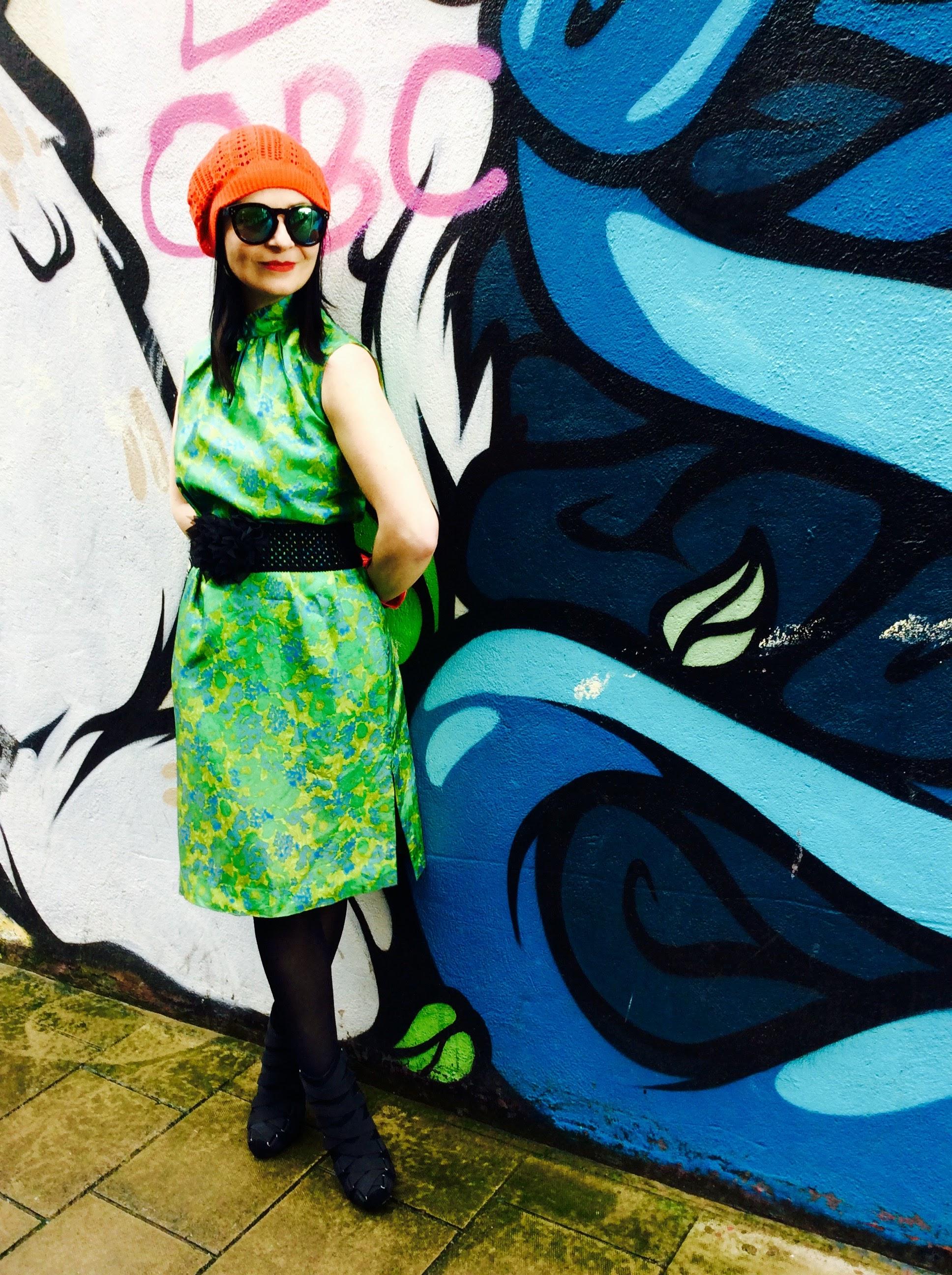 !960's Vintage Dress sourced in  Oxfam .