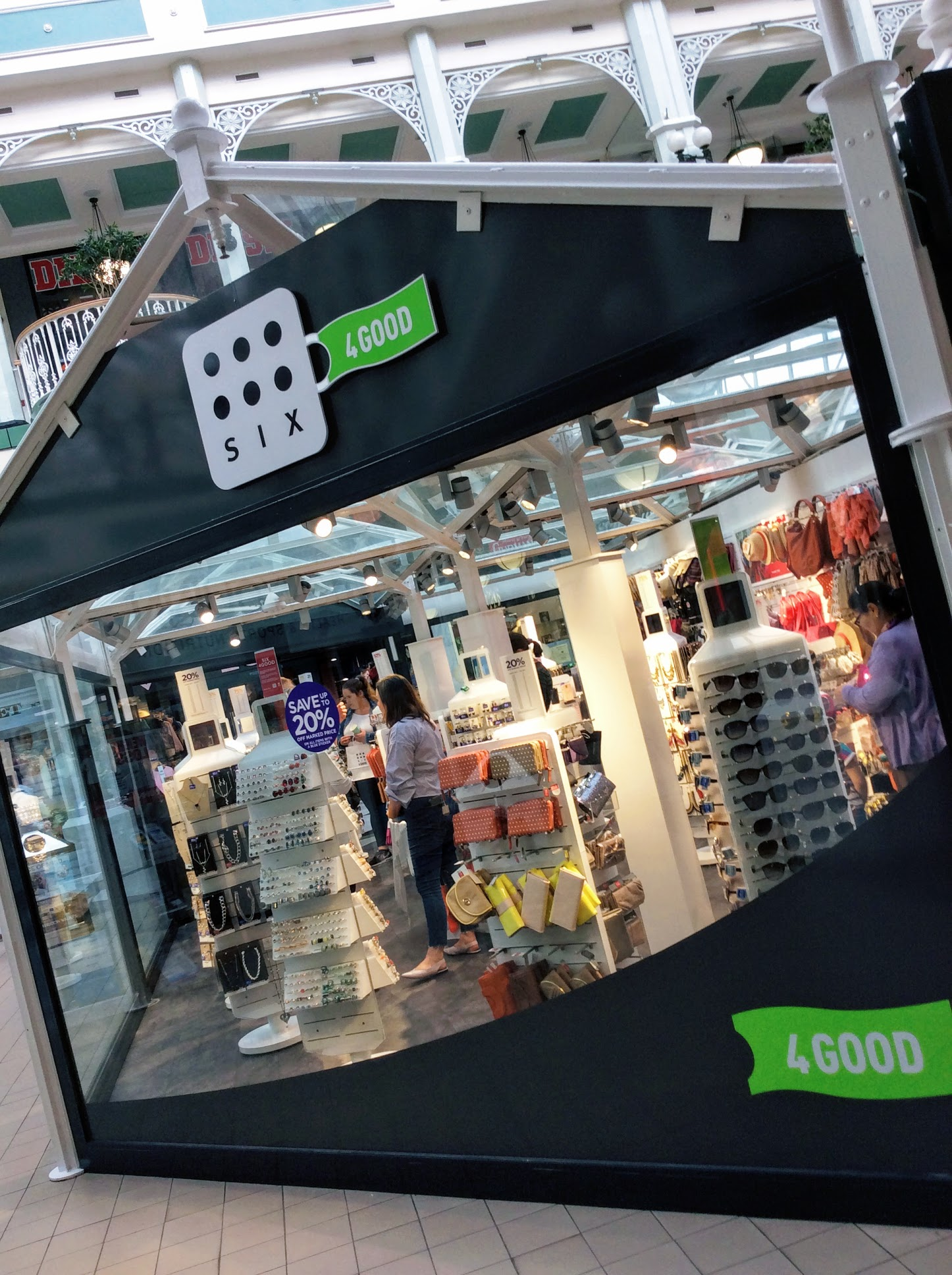 SIX4GOOD Shop , Stephens Green Shopping Centre Dublin 2 Ireland.