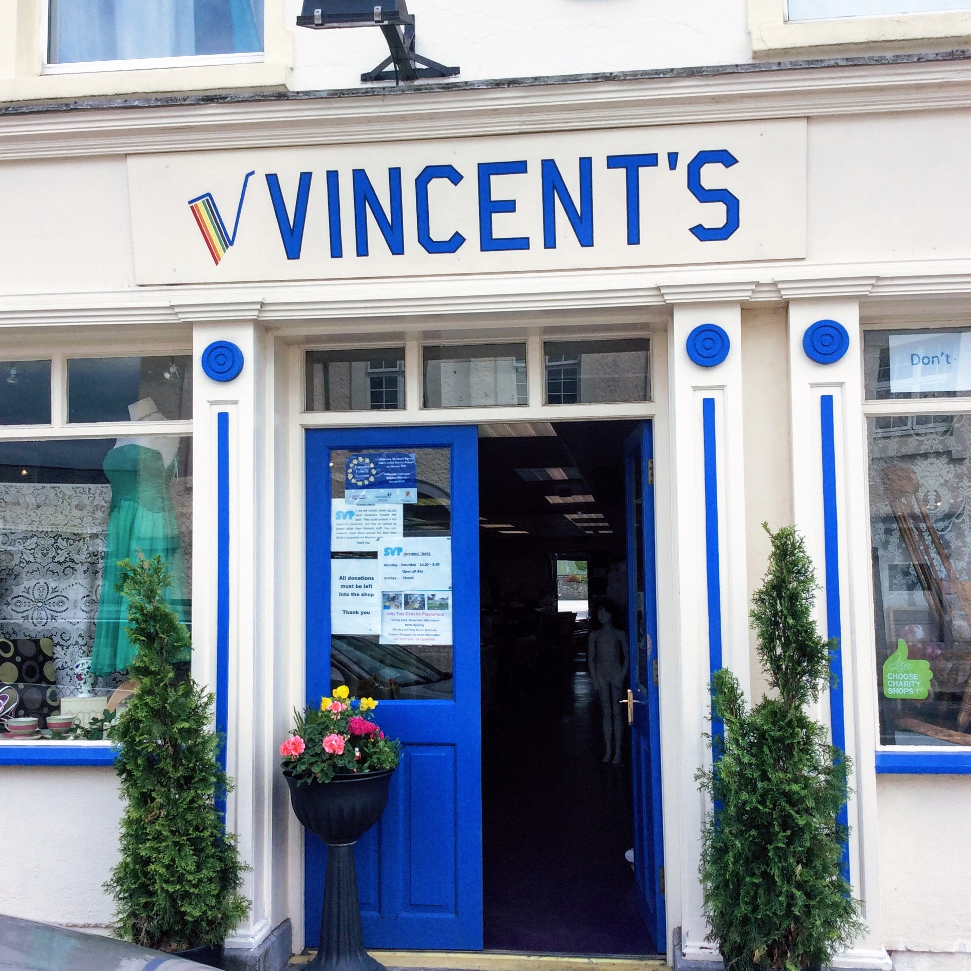 St. Vincent de Paul charity shop Abbeyleix.