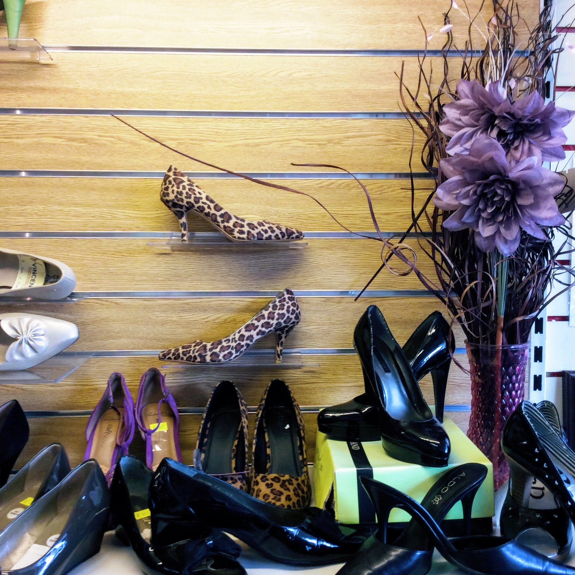 Another classic shoe display in their wonderful charity shop