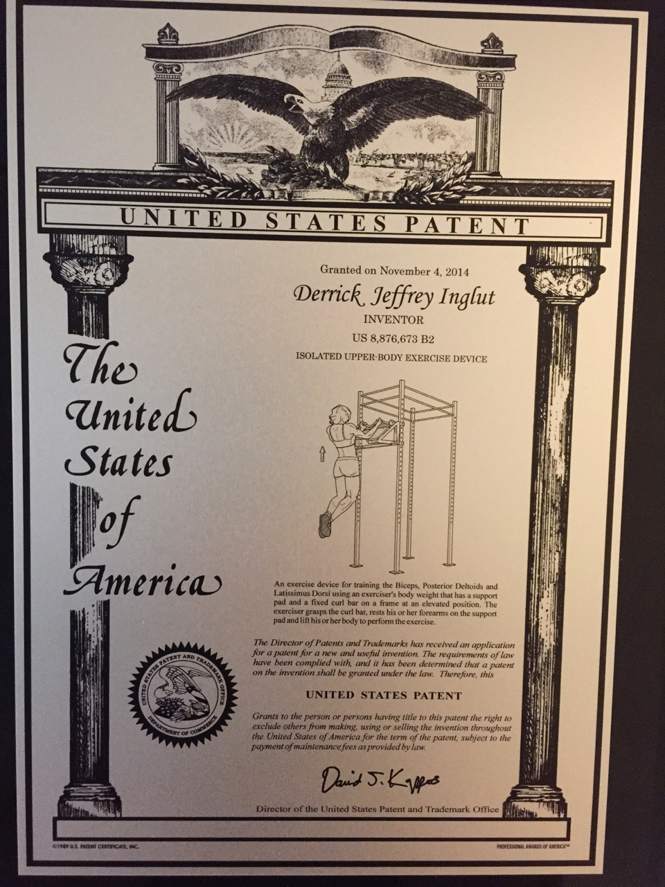 Patent numbers: 9192804, 8876673