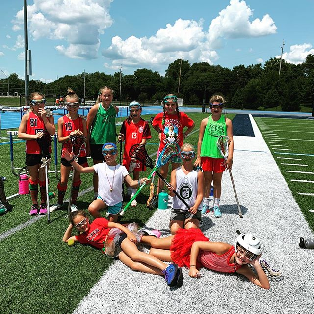 Girl's Lacrosse celebrating Christmas in July❤️🎄🤶🏼💚🎁 #excelsummer2019 #week6
